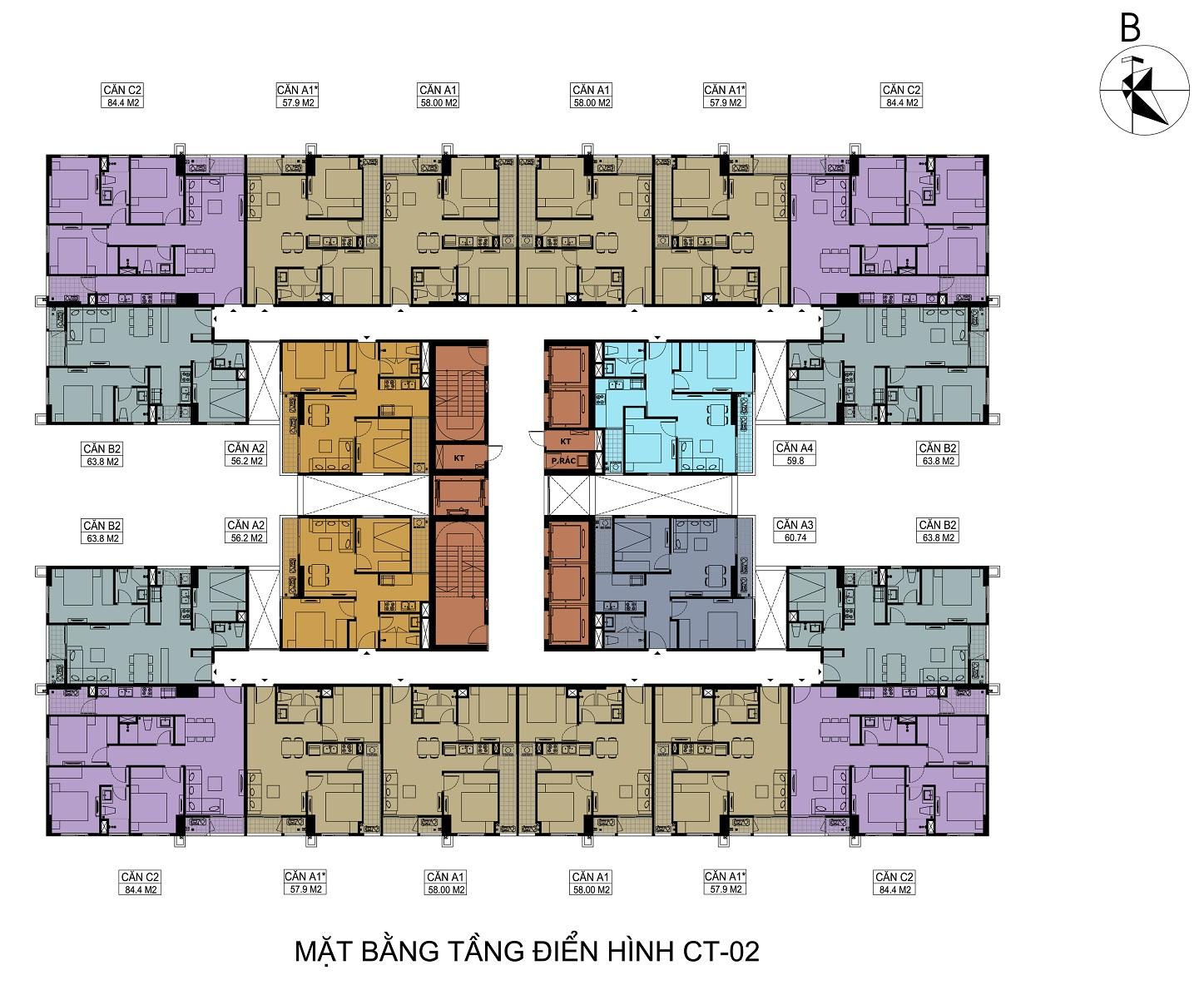 mat-bang-toa-CT2-chung-cu-hateco-apollo-xuan-phuong
