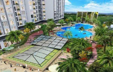 Bể bơi ngoài trời tại Hateco Apollo Xuân Phương