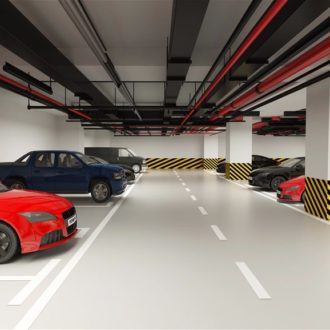 Hầm để xe chung cư Hateco Apollo