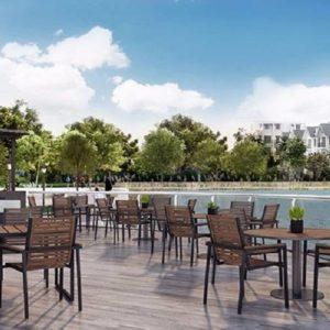 Khu cafe ngoài trời tại Hateco Apollo Xuân Phương